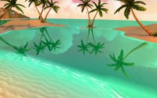 在移动设备端实现美丽的海面效果(波光+渐变+实时倒影)