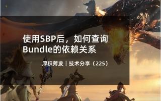 使用SBP后,如何查询Bundle的依赖关系