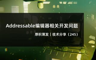 Addressable编辑器相关开发问题