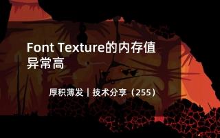 Font Texture的内存值异常高